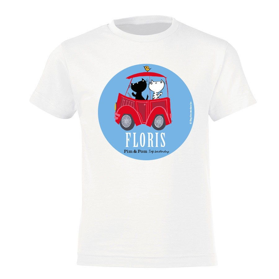 Pim & Pom T-shirt - Kids - Wit - 4 jaar