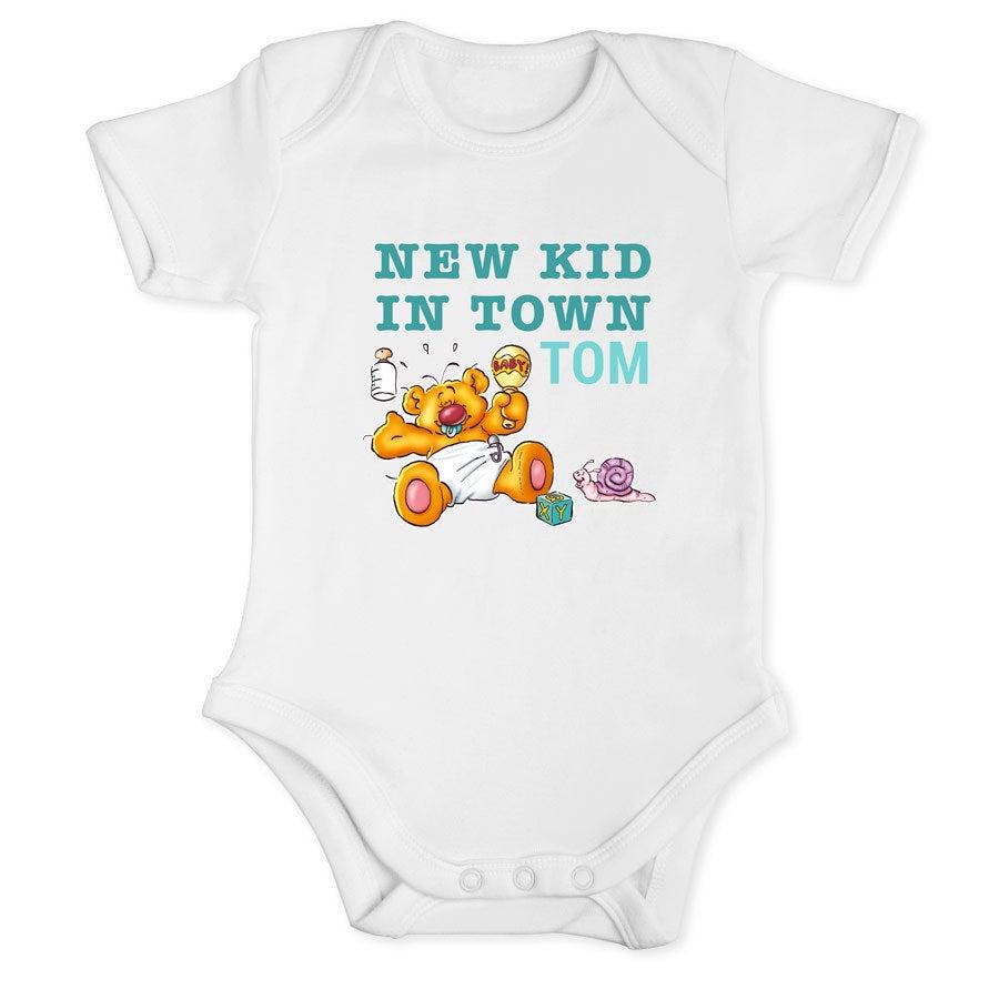 Doodles - Baby Bodysuit White - Størrelse 50/56