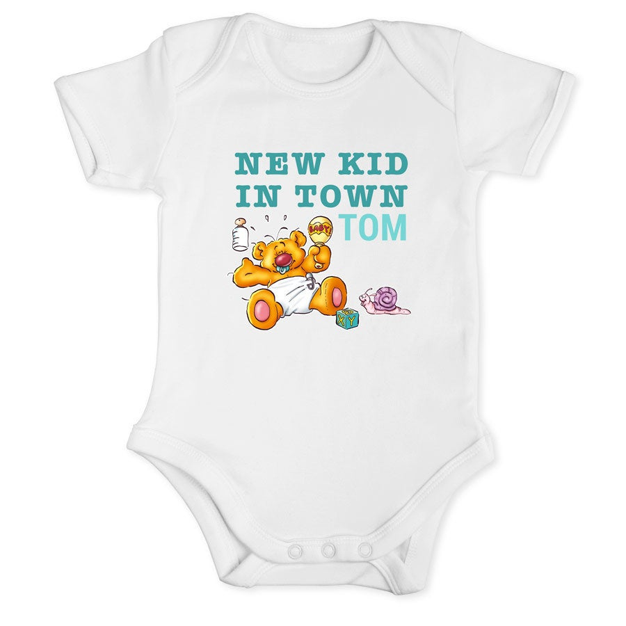 Doodles - Baby romper White - Size 50/56