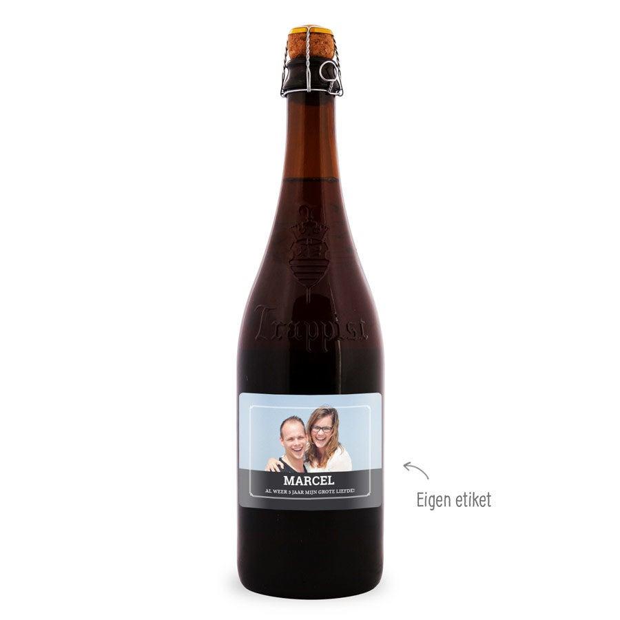 Bier met bedrukt etiket - La Trappe Quadrupel
