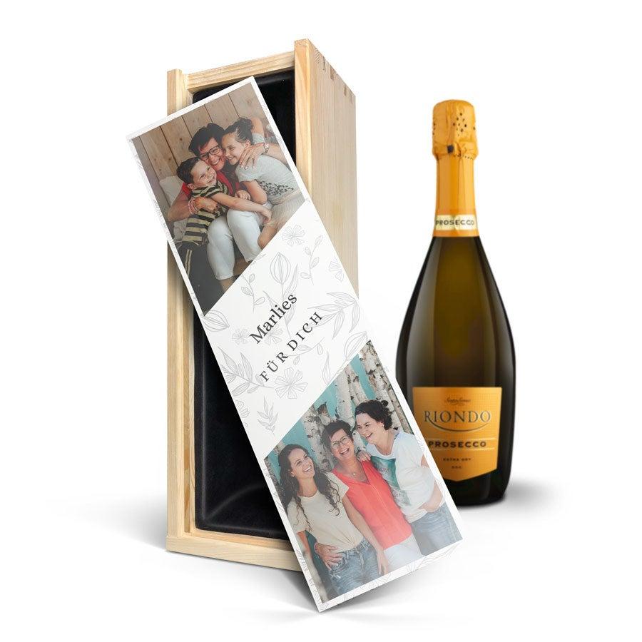 Individuellleckereien - Wein in bedruckter Kiste Riondo Prosecco Spumante - Onlineshop YourSurprise