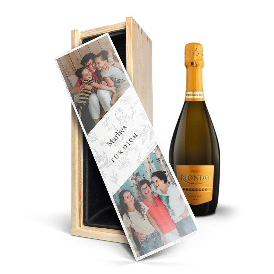 Wein in bedruckter Kiste - Riondo Prosecco Spumante