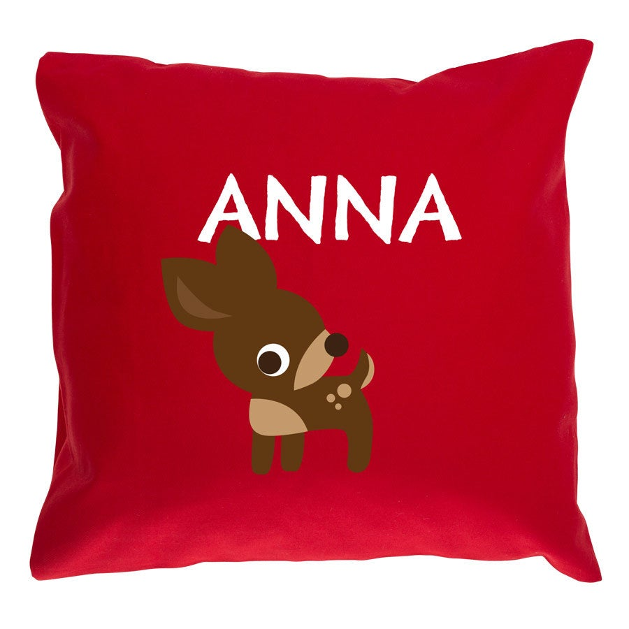 Children's cushion Red - 40x40cm
