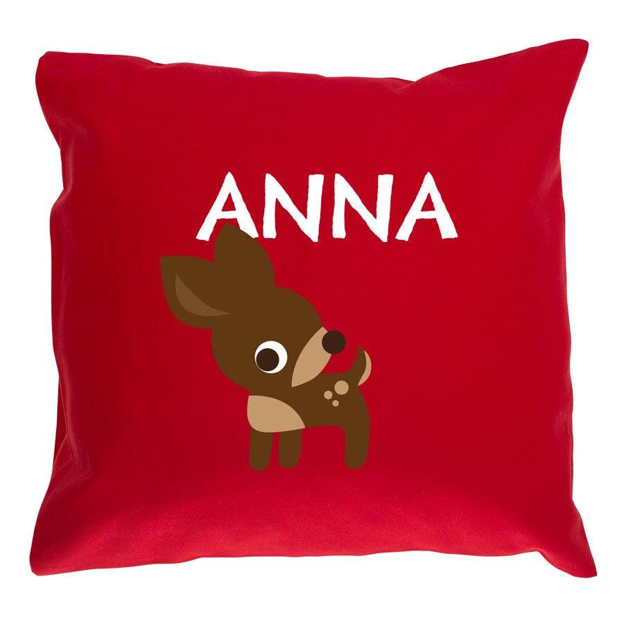Children's cushion Red - 40x40cm