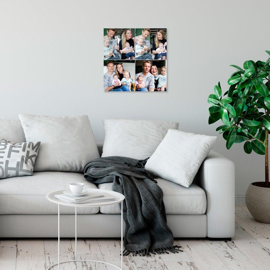 Instagram collage fotopaneler - 20x20 - Glanset (4 stykker)
