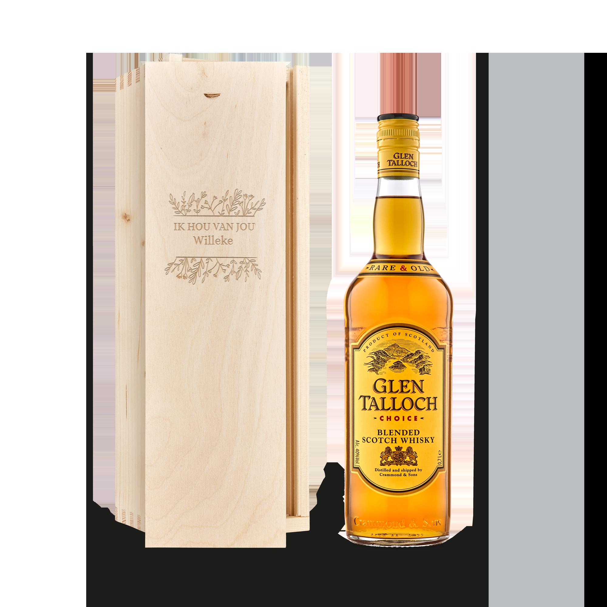 Whisky in gegraveerde kist - Glen Talloch