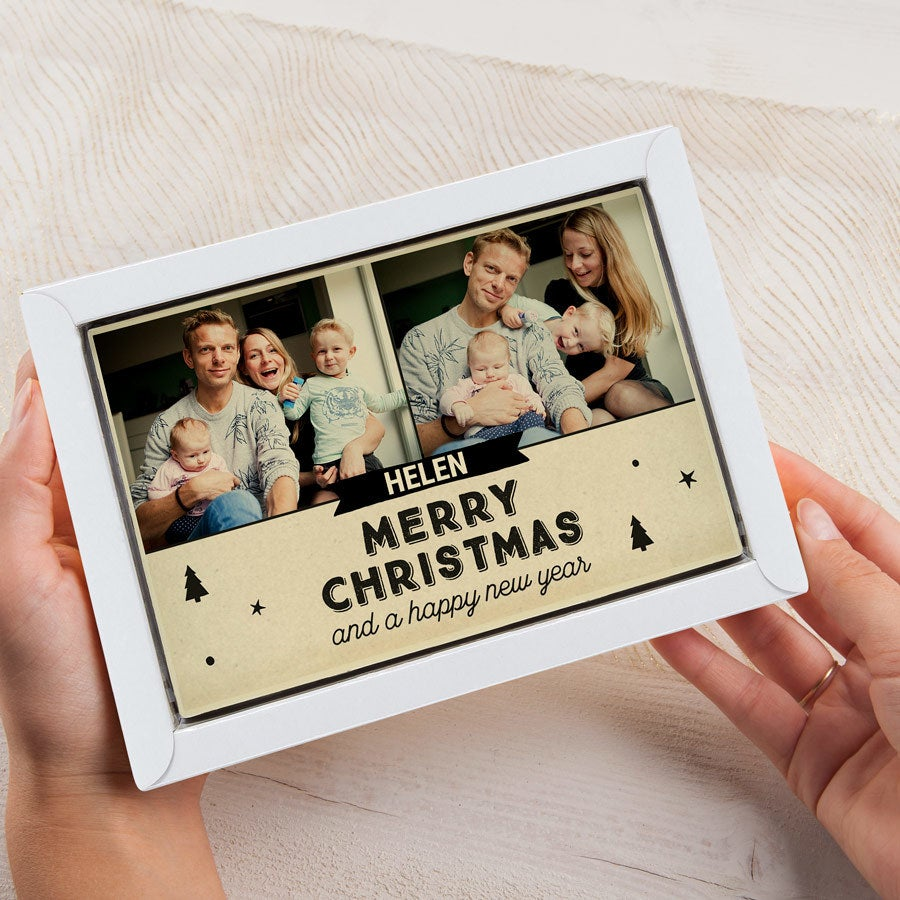 Tarjeta de Navidad - Leche Grande