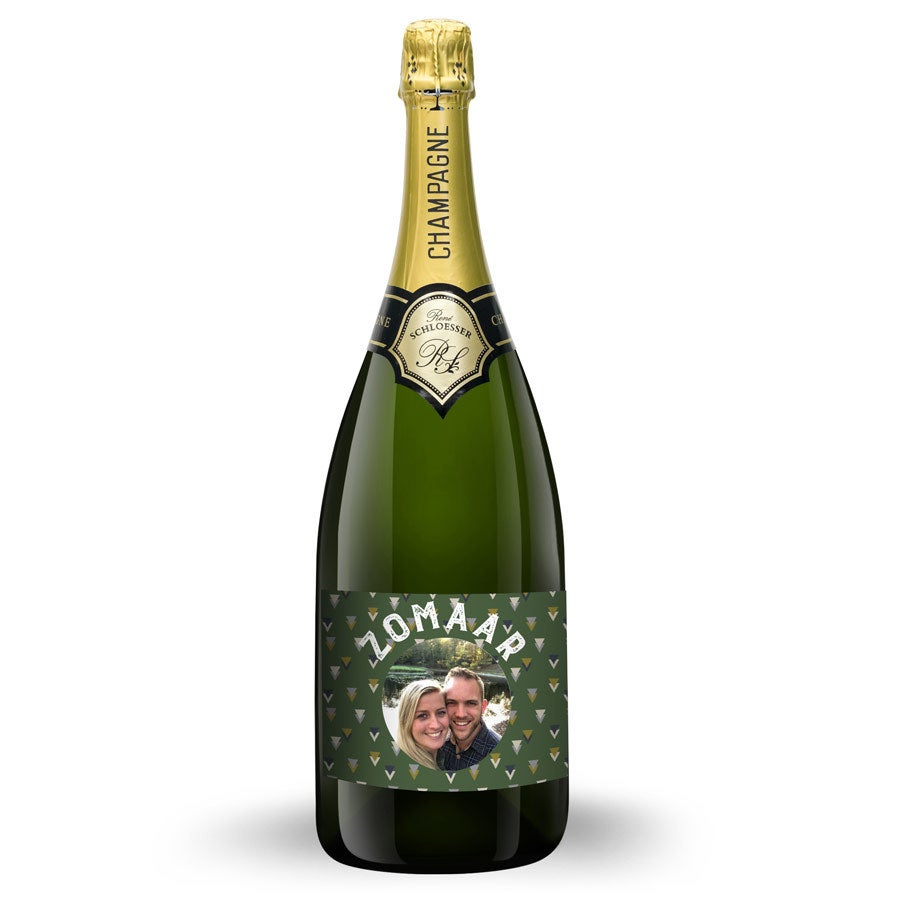 Champagne met bedrukt etiket - René Schloesser Magnum (1500ml)