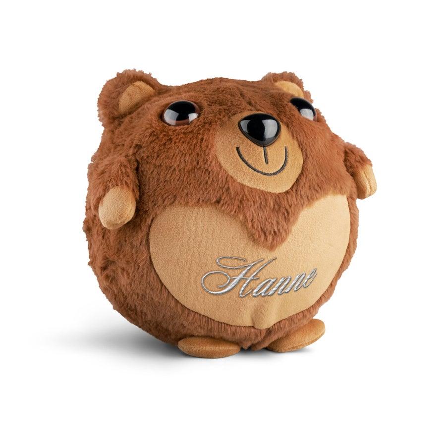 Personlig oppustelig bjørn - Broderet navn