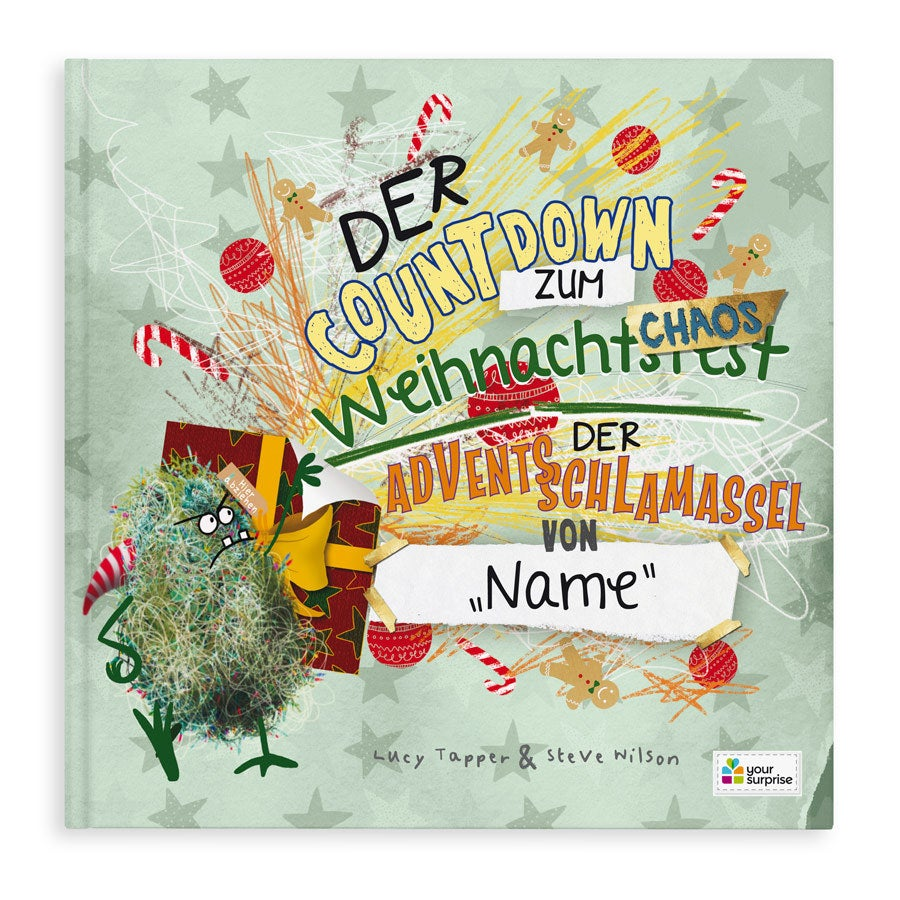 Kinderbuch mit Namen - Advents Kritzelbuch - Hardcover