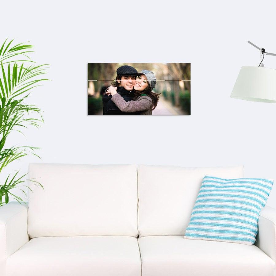 Puinen paneelitaulu (60x30cm)