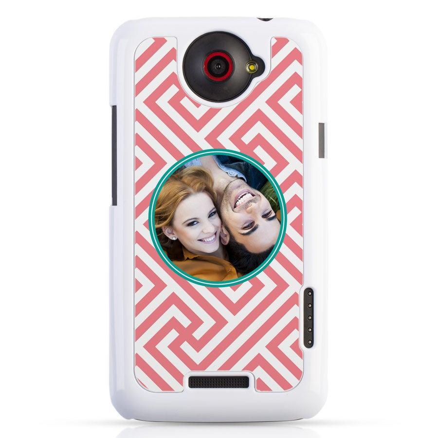 HTC One X - Fotocase Weiß