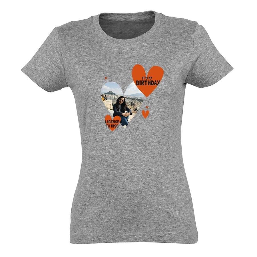 T-shirt voor vrouwen bedrukken - Grijs - S