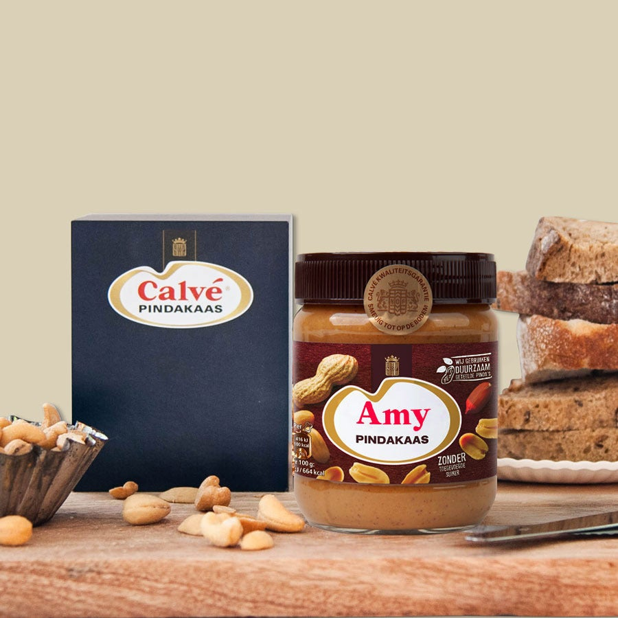 Calvé pindakaas cadeau met naam (350 gram)