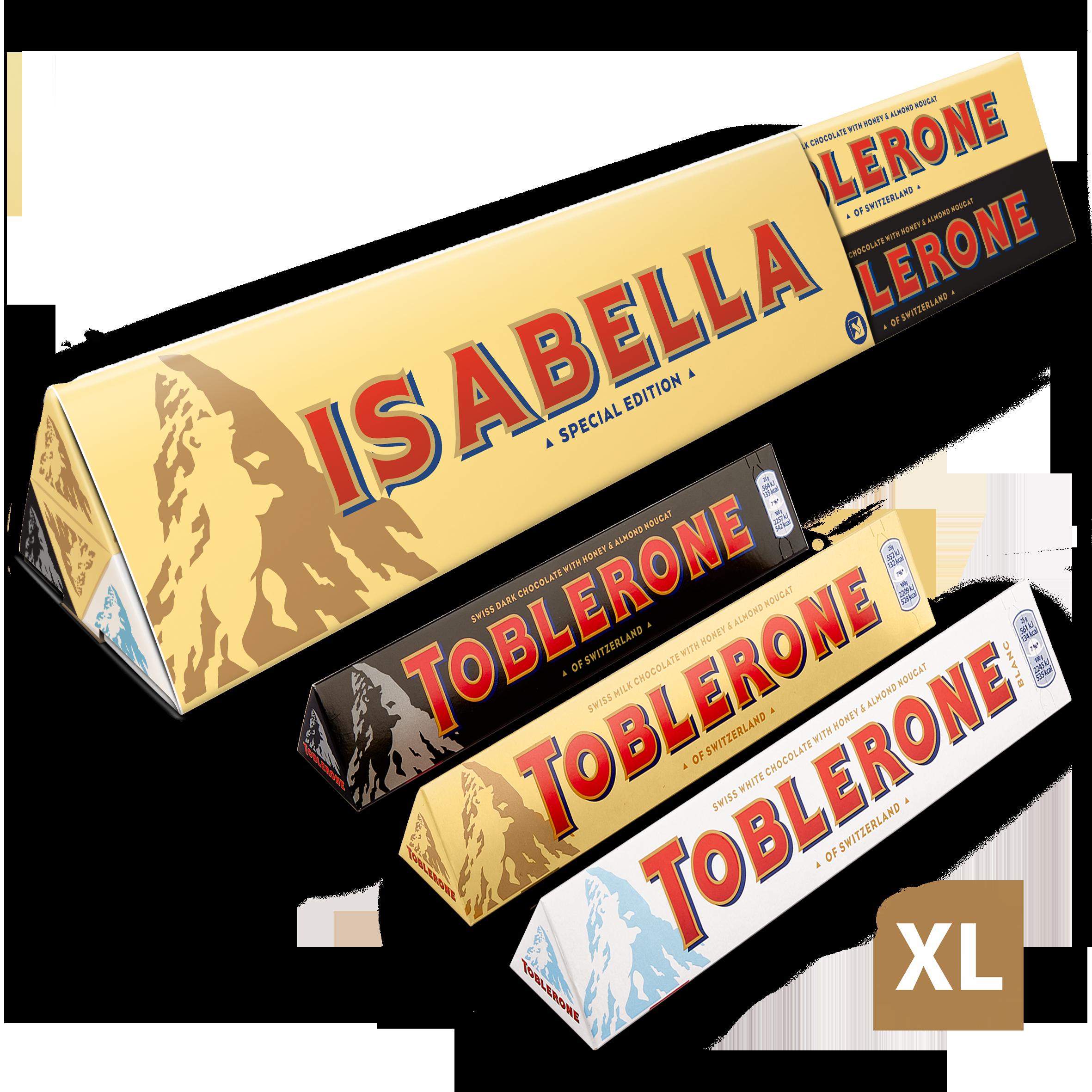 XL Toblerone smakenmix met naam en foto bedrukken