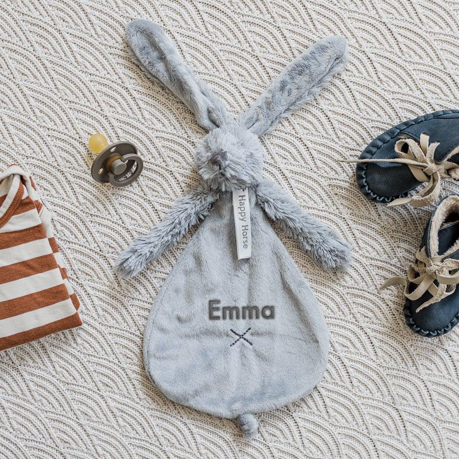Rabbit Richie vauvan pehmolelu nimellä - 25 cm - Harmaa
