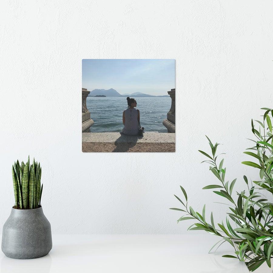 Foto op aluminium afdrukken - Wit (ChromaLuxe) - 15 x 15 cm