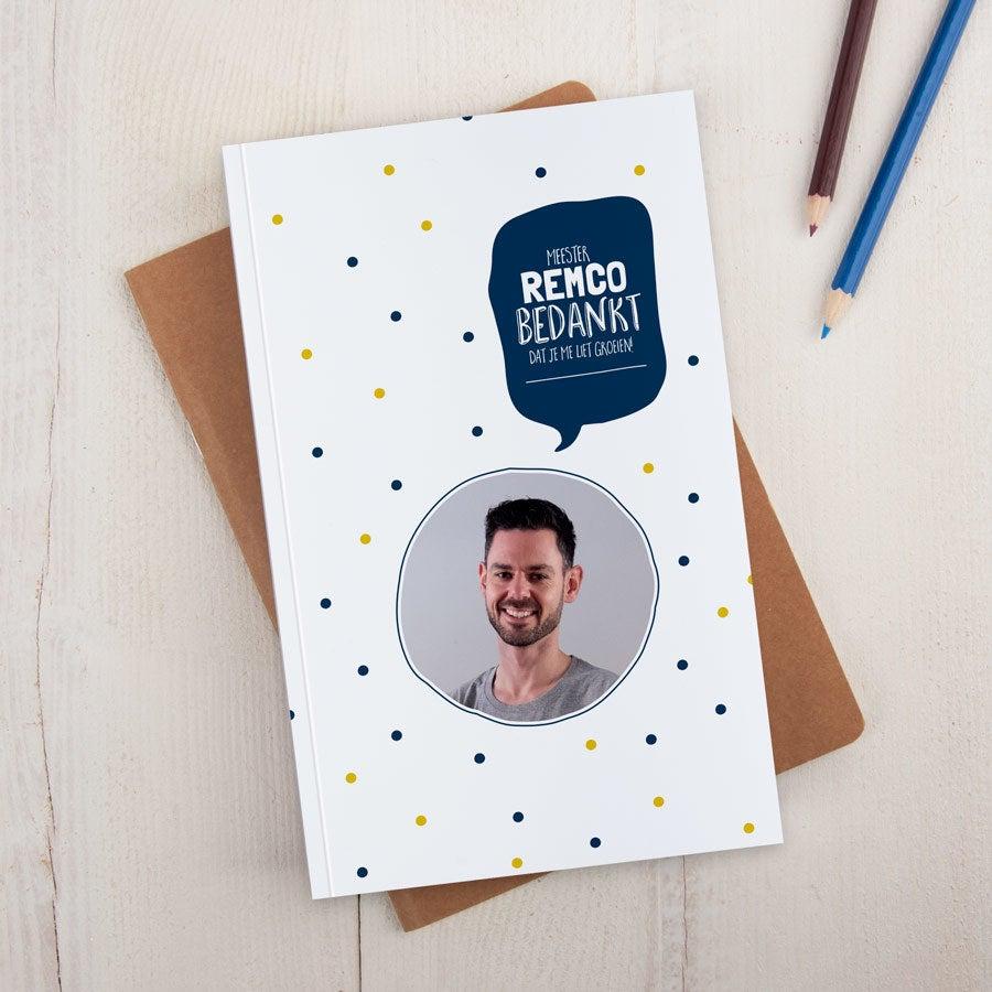 Juf / Meester notitieboekje bedrukken - Softcover
