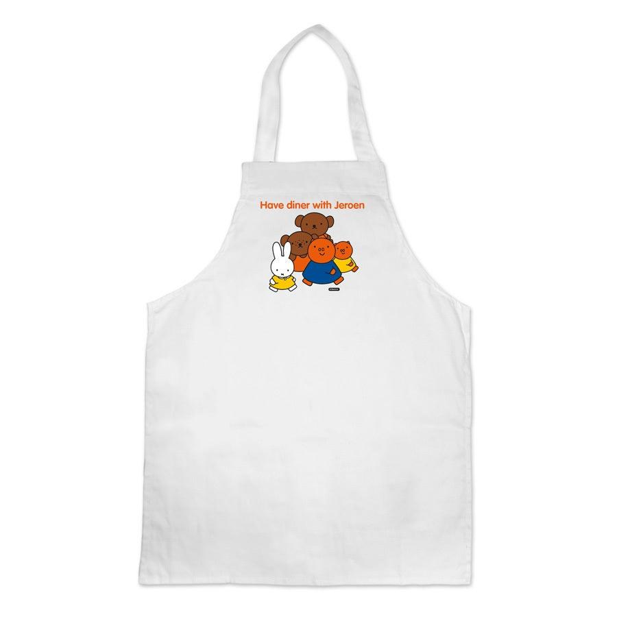 Avental infantil miffy - Branco - impresso