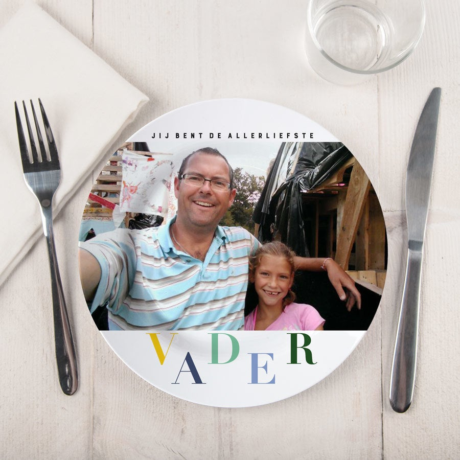Vaderdag bord bedrukken