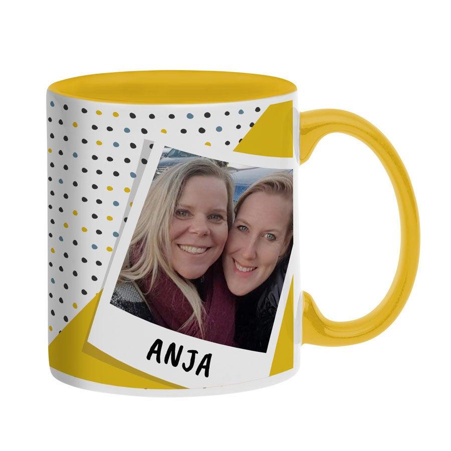 Individuellküchenzubehör - Tasse mit Foto Gelb - Onlineshop YourSurprise