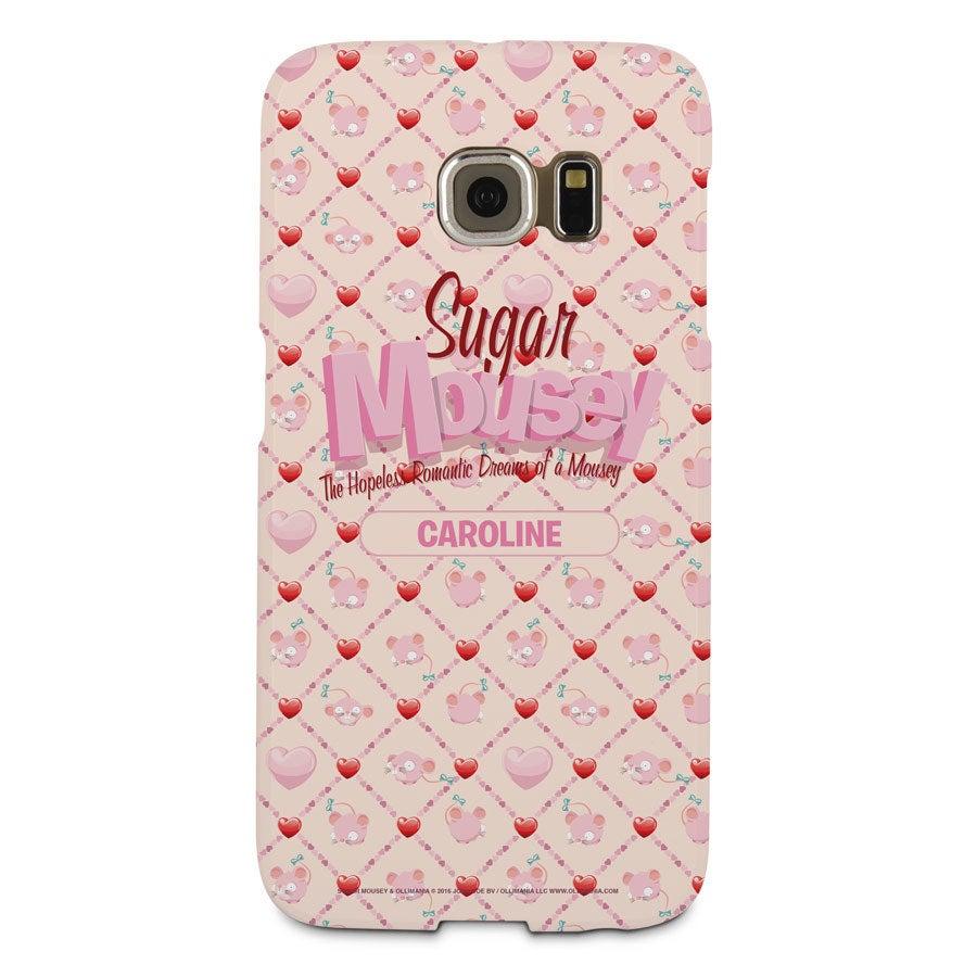 Capa de celular Sugar Mousey - borda Samsung Galaxy S6 - impressão 3D