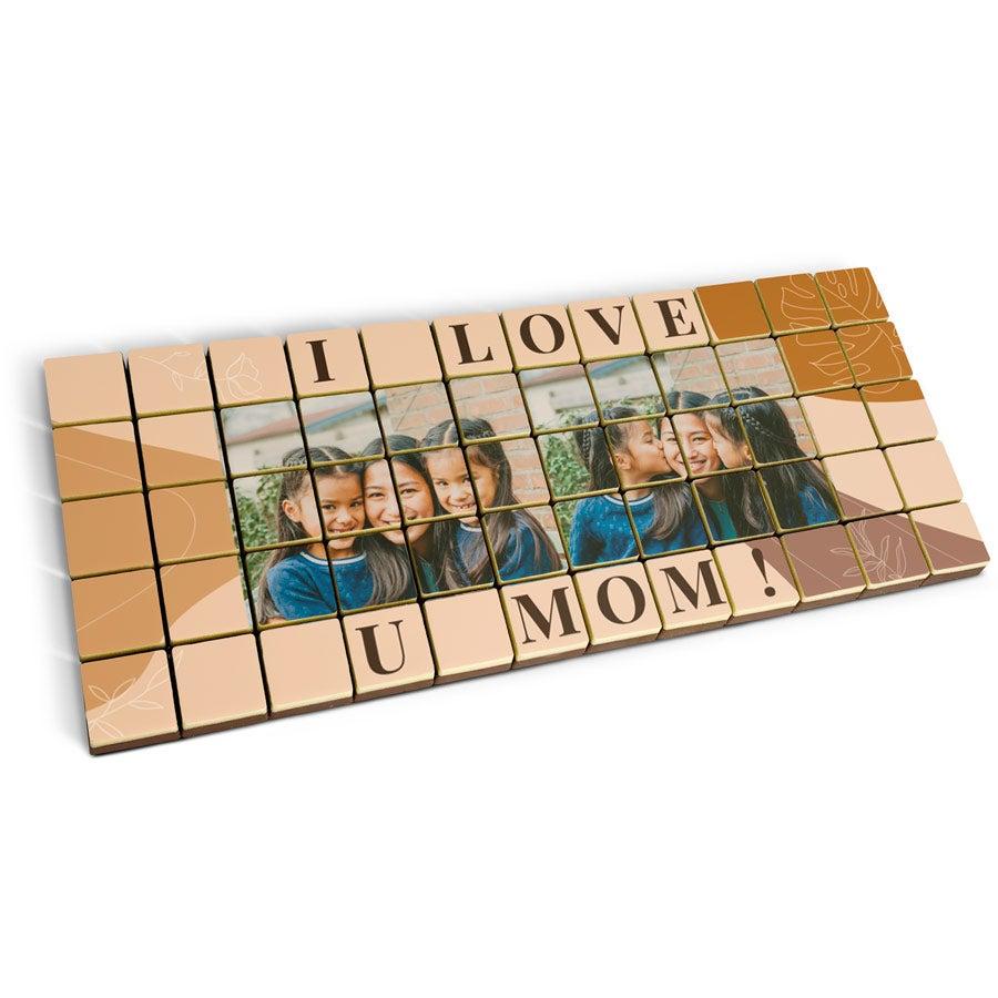 Puzzle photo en chocolat - massif - 60 pièces