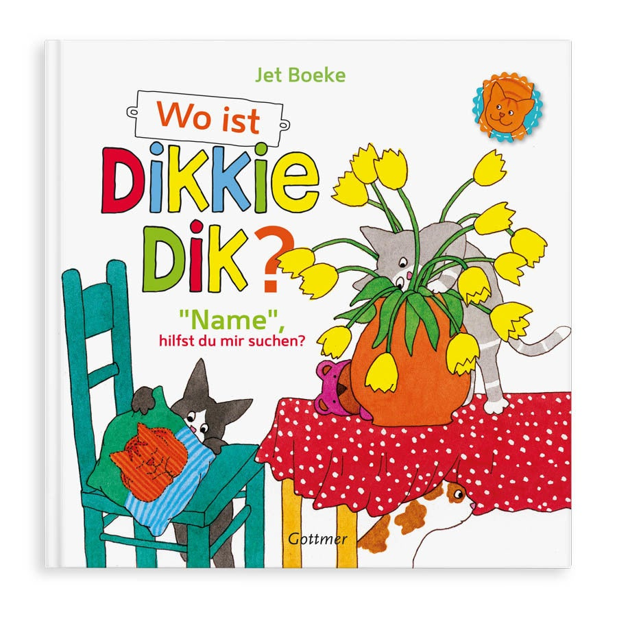 Buch mit Namen - Wo ist Dikkie Dik?  (Hardcover)