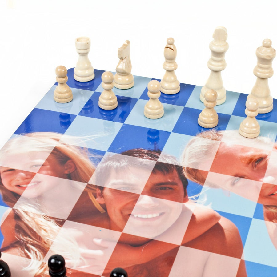 Chess board with photo