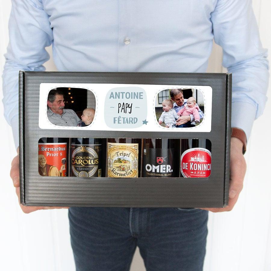 Coffret à bières Papi personnalisé - Belge