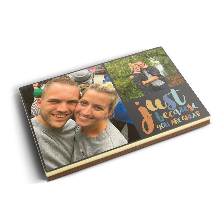 Foto en tarjeta de chocolate - 240gram