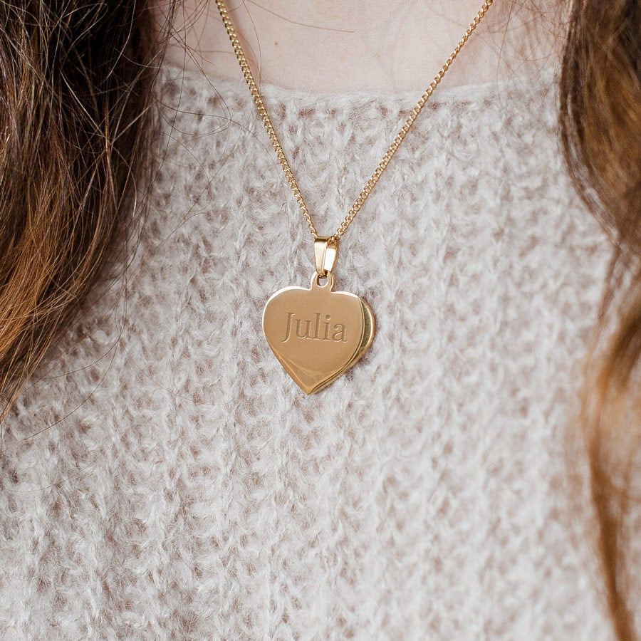 Pendentif cœur prénom - Couleur or