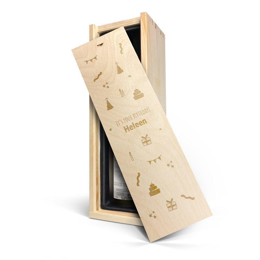 Wijn in gegraveerde kist - Salentein - Primus Chardonnay