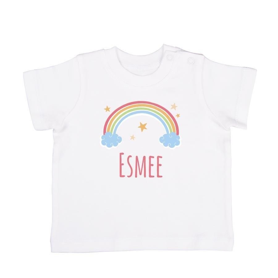 Baby T-shirt - Korte mouw - Wit - 62/68