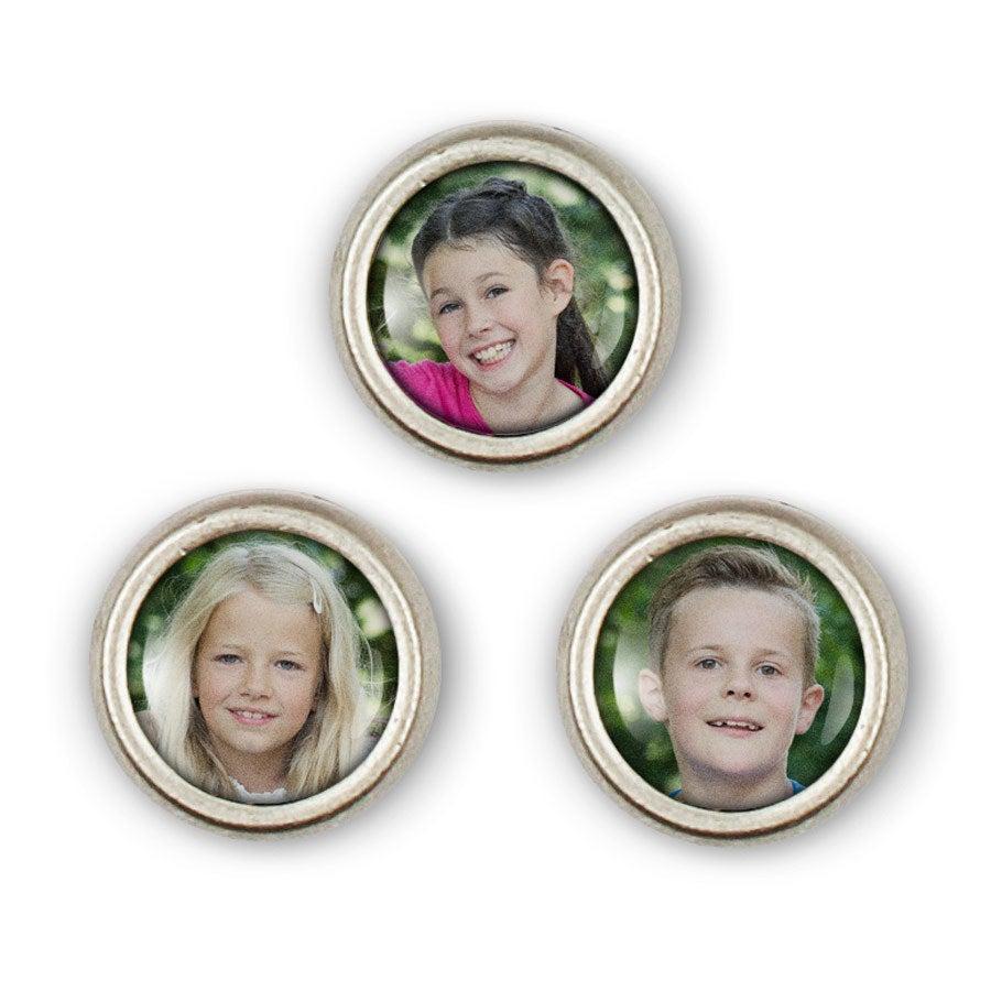 Schiebeperlen mit Foto - 3 Perlen