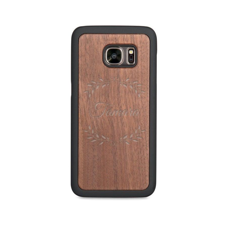 Houten telefoonhoesje graveren - Samsung Galaxy s7