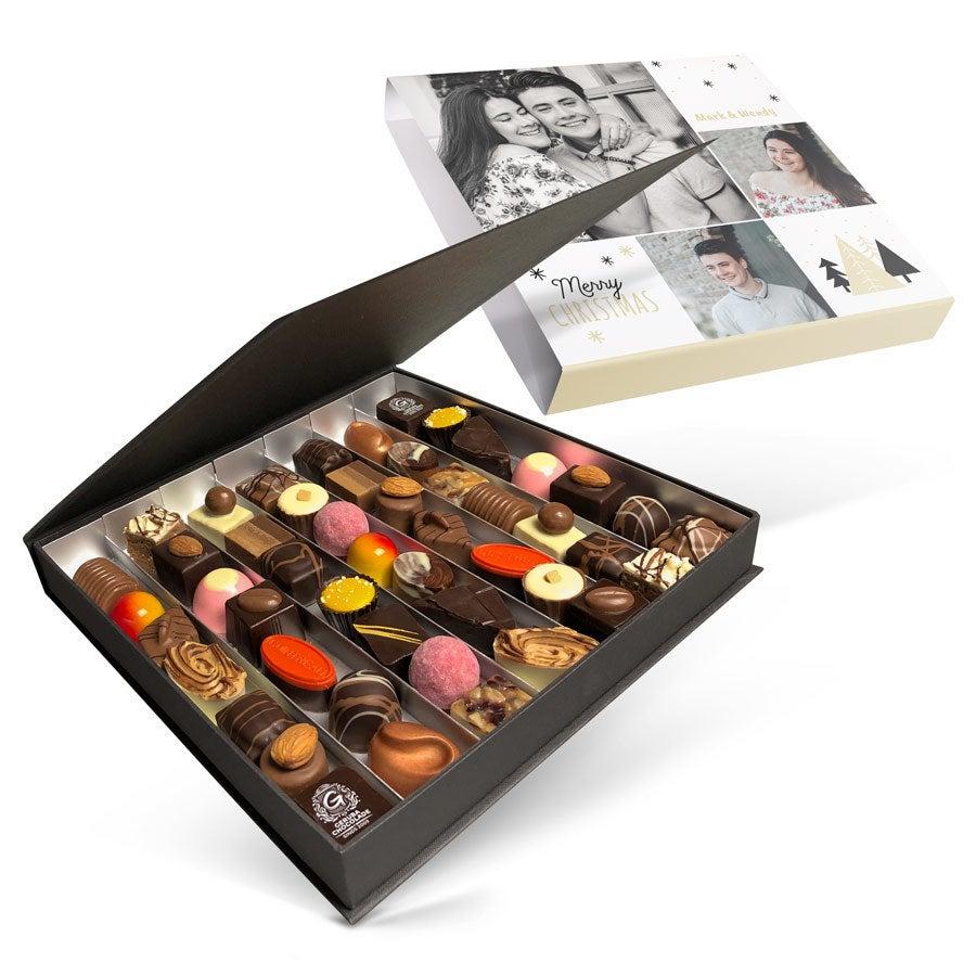 Luxe bonbon giftbox bedrukken - Kerst (49 stuks)