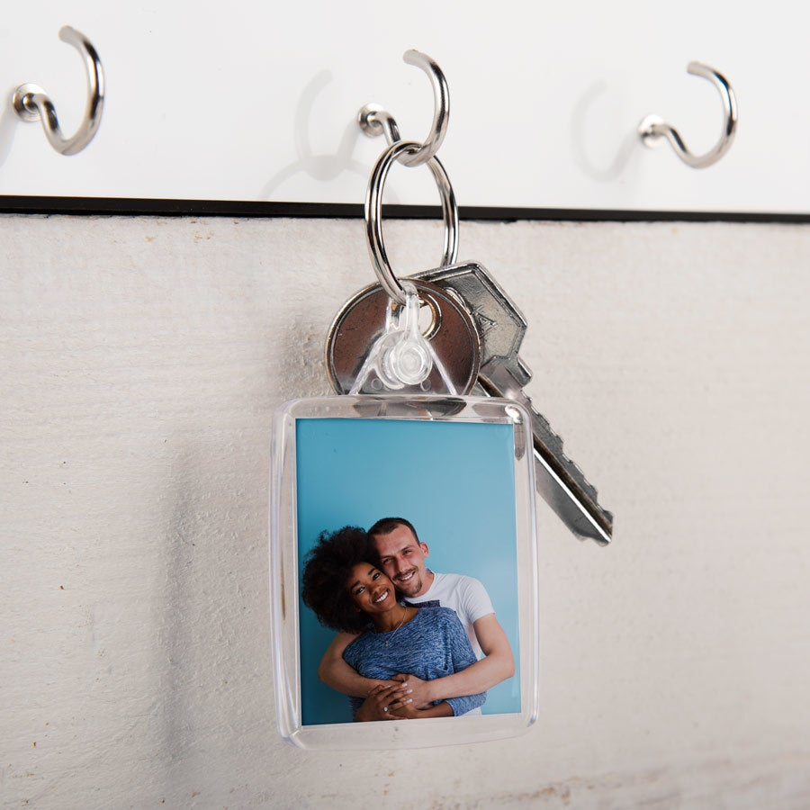 Porta-chaves com foto - frente e verso (conjunto de 3)