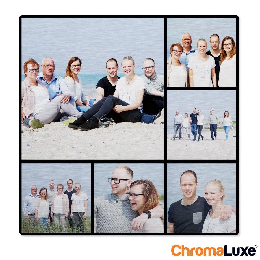 Individuellfotogeschenke - Instagram Collage auf Aluminium Chromaluxe Gebürstet (20x20) - Onlineshop YourSurprise