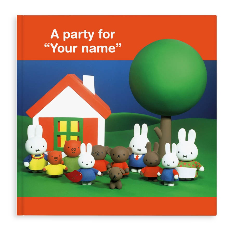 Boek met naam - Miffy a party for... (Engelstalig) (Hardcover)