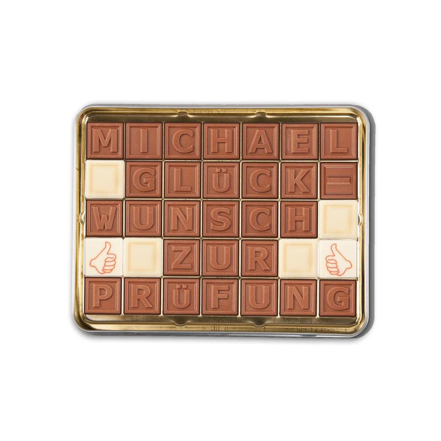 Chocotelegram Blechdose 5x7