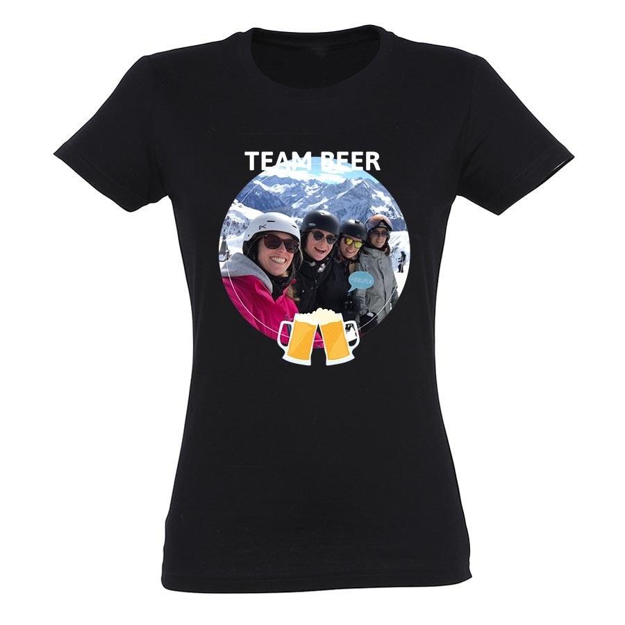 T-shirt voor vrouwen bedrukken - Zwart - XL