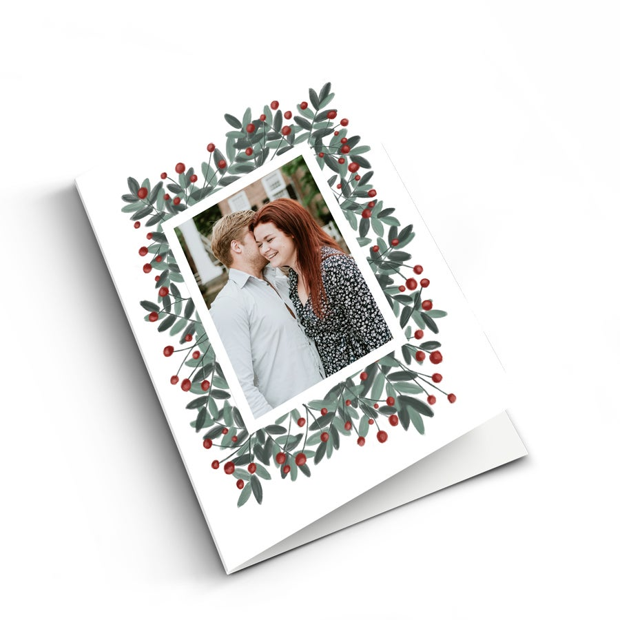 Kerstkaart met foto - M - Staand