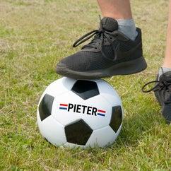 Voetbal met de naam van je zoon