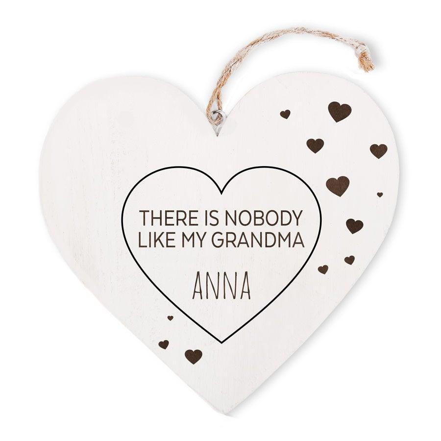 Grandma's wooden heart