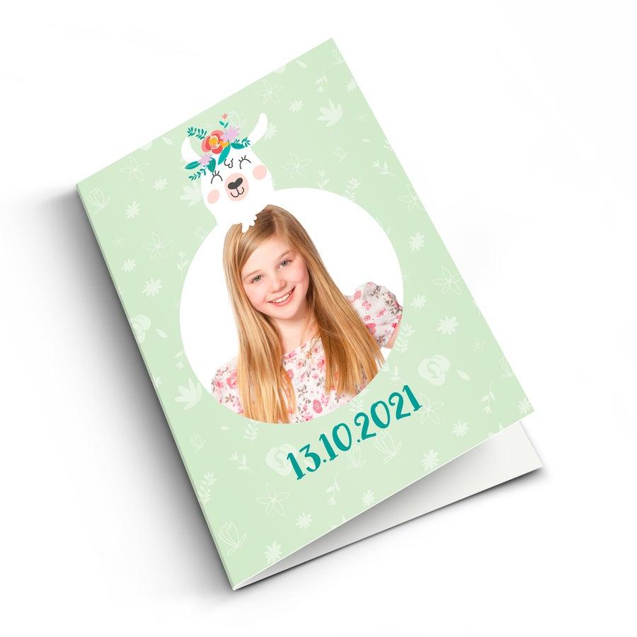 Első áldozati kártya fotóval