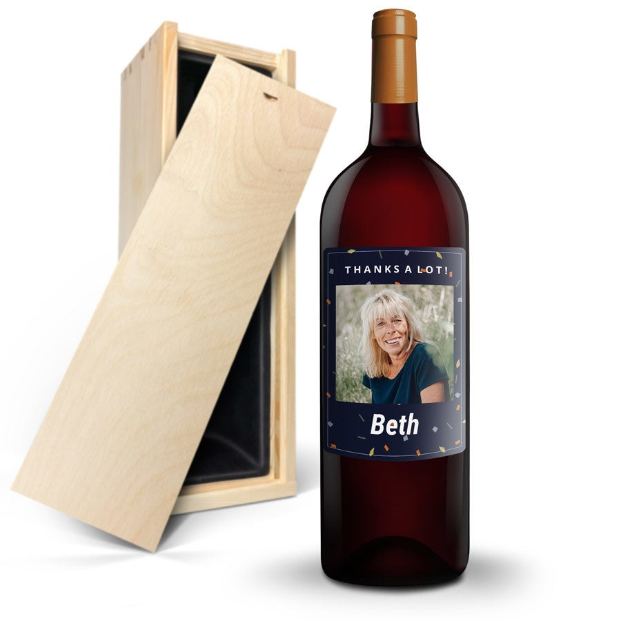 Wine with personalised label - Salentein - Malbec - Magnum