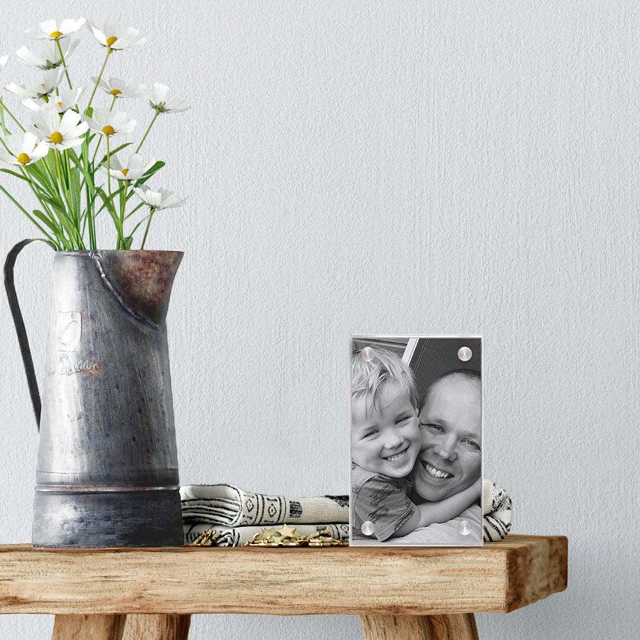 Bloco de fotografias em acrílico - 4,5 x 7 cm