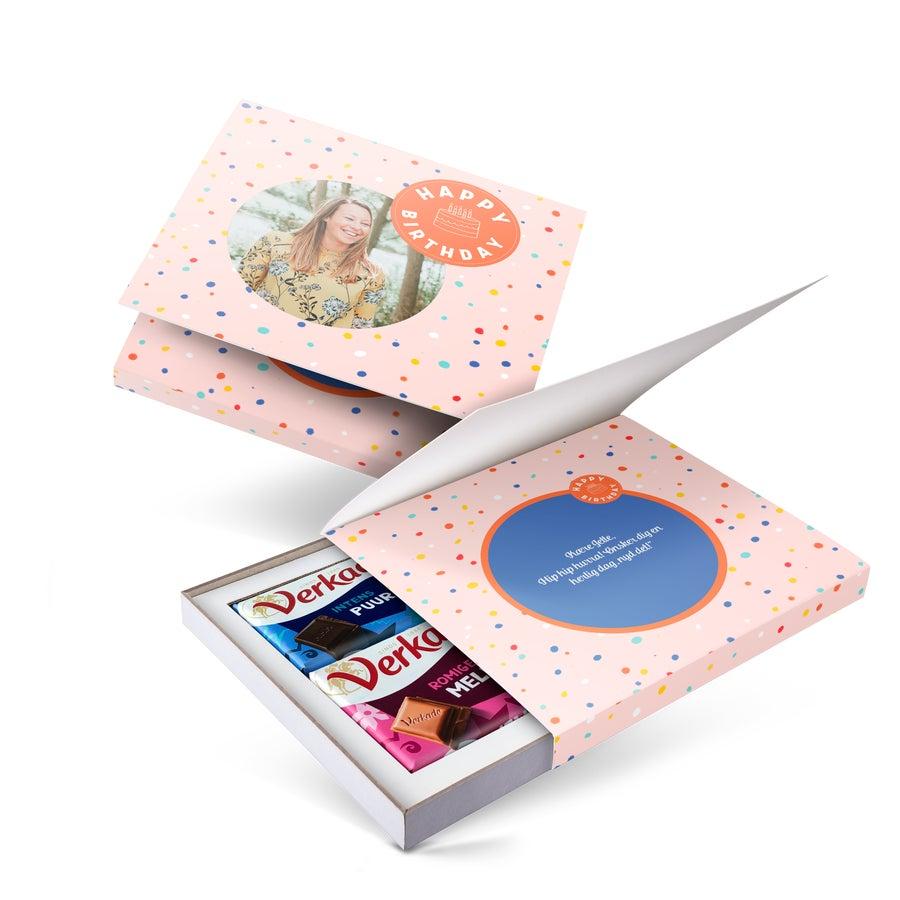 Coffret personnalisé chocolat Verkade - 2 tablettes