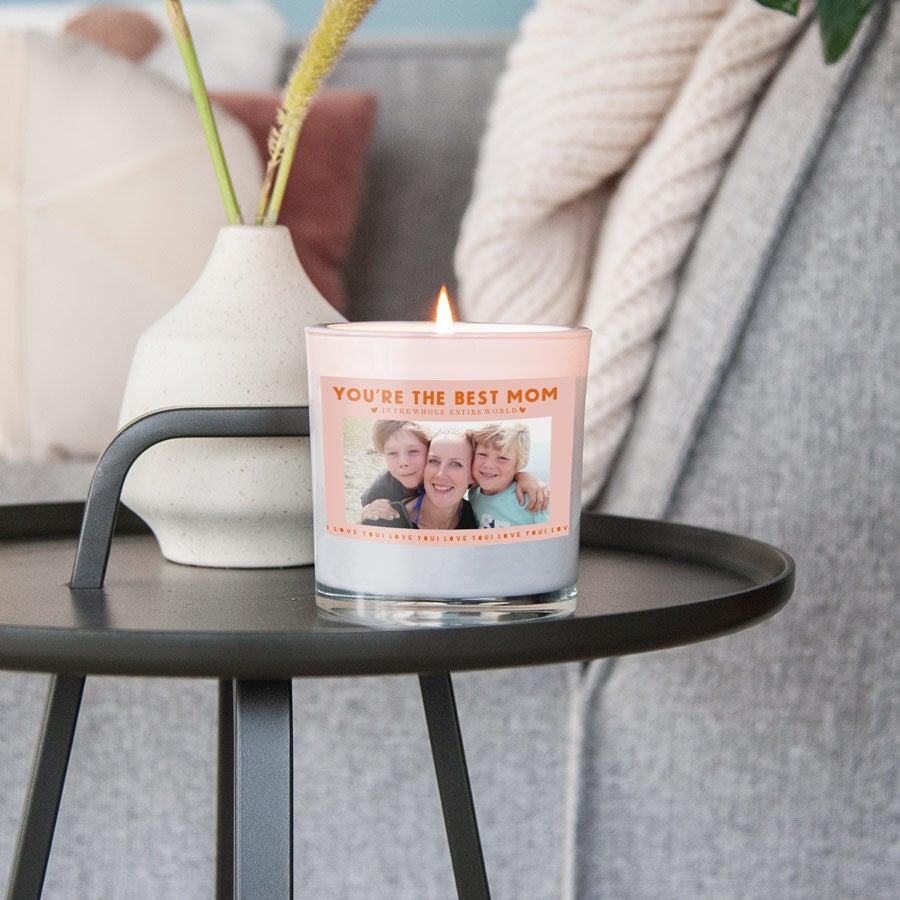 Den matek svíčka ve skle - 10 x 10 x 10 cm